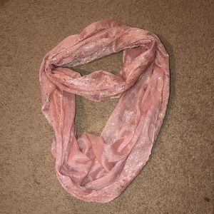 Infinity gold sparkle scarf